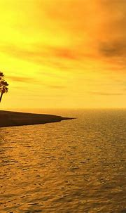 3D/Abstract - Tropical Beach Sunset 3D - Download iPad ...