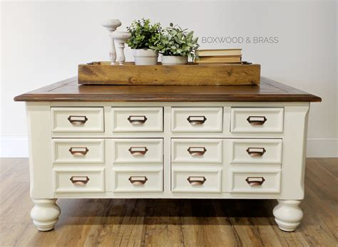 Card Catalog Coffee Table  General Finishes 2017 Design