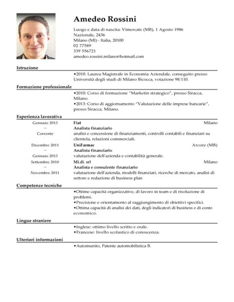 Upload My Resume Cv From My Computer by Curriculum Vitae Formato Europeo Con Foto Da Compilare How To Upload Resume To Linkedin Best