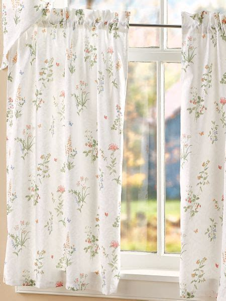 soft floral printed rod pocket tiers