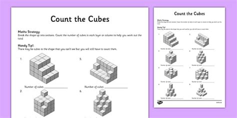 year 5 count the cubes worksheet activity sheet worksheet