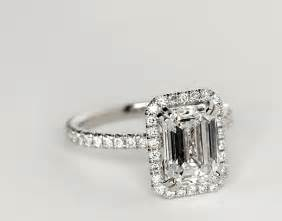 emerald cut engagement rings with halo blue nile studio emerald cut heiress halo engagement ring in platinum 1 2 ct tw