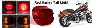 Amazon Com  Movotor Red Low Profile Harley Davidson Tail
