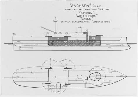 NH 110826 German SACHSEN Class. Second Class Battleship ...
