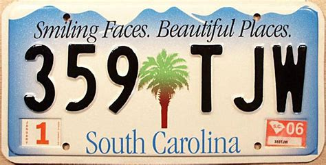 Vanity Plates Sc by South Carolina Y2k