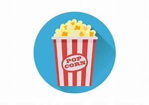 Popcorn Flat Vector Icon - SuperAwesomeVectors