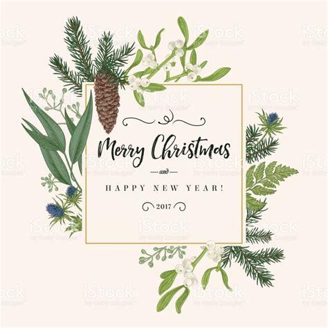 christmas holiday frame  vintage style greeting