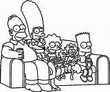 Simpsons Coloring Couch Simpson Bart Sofa Wecoloringpage Printable Drawing Cartoon Lisa Drawings Tattoo Getcolorings Vector Getdrawings Awesome Colorings sketch template