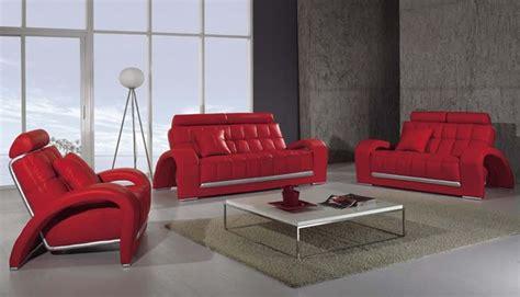 Divano Design Rosso : Divano Salotto Pelle Rosso Moderno Sofa Americano