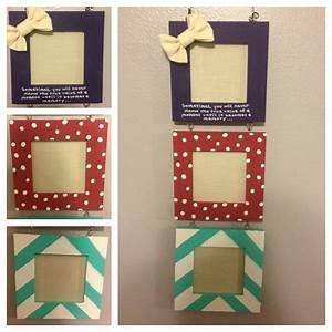 Diy picture frame cute crafts