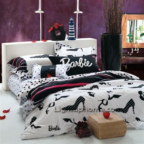 black and white comforter cover and sheet kids bedding - Black Barbie Comforter Set