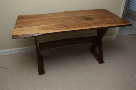 all wood desk for sale rustic walnut trestle desk traditional desks and