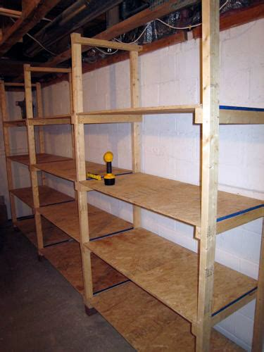 diy basement organization how to build inexpensive basement storage shelves one project closer