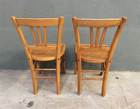 ensemble de 8 chaises bistrot style baumann