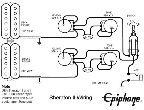 original gibson epiphone guitar wirirng diagrams