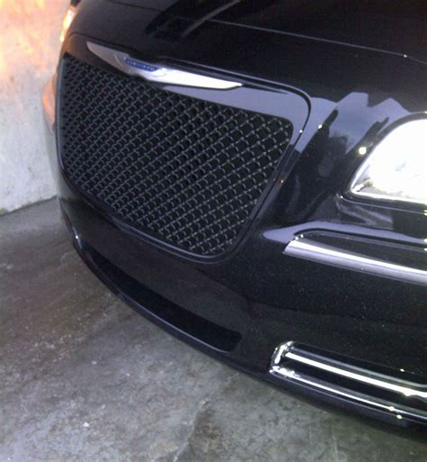 Chrysler 300 Grill by 2011 2012 Chrysler 300c Premium Black Abs Mesh Honeycomb