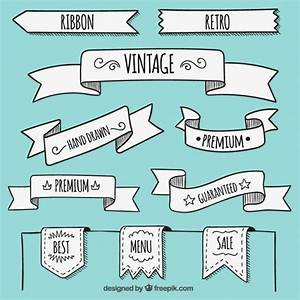 Hand drawn banners in retro style Vector | Free Download