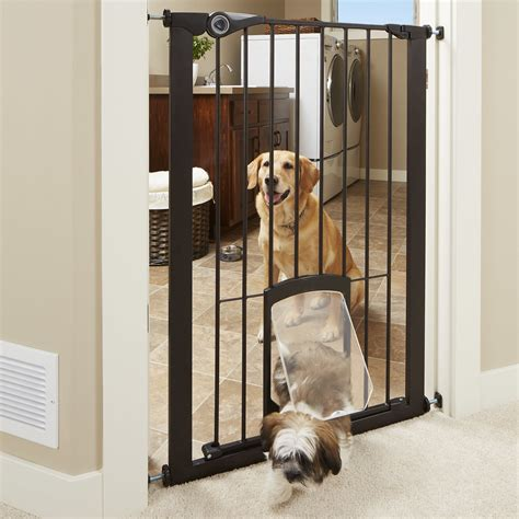 pet gates with door mypet petgate passage gate with small pet door
