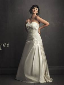 a line sweetheart designer ivory satin lace wedding With plus size ivory wedding dresses