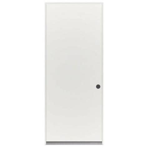 jeld wen 32 in x 79 in flush primed white steel prehung
