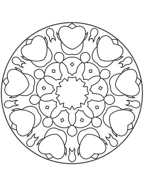 Kleurplaat Hartjes Mandala kleuren nu mandala hartjes kleurplaten