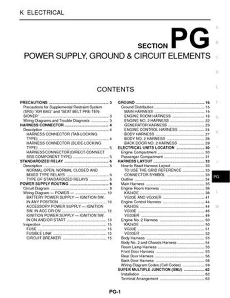 2004 Nissan Xterra - Power Supply, Ground & Circuit