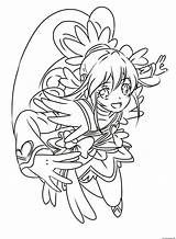 Glitter Force Coloring Pages Heart Printable Pretty Precure Cure Doki Entitlementtrap Popular Books Template sketch template