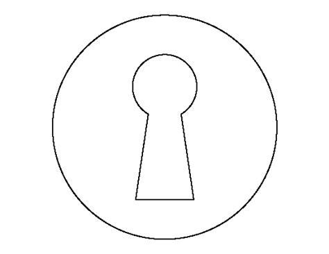printable key hole template
