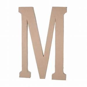 235quot paper mache letter m With darice paper mache letters 23 5