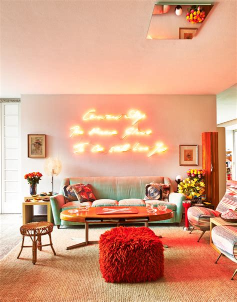 Glowing Interior Designs by Design Trend Alert Using Neon Lights To Add Personality