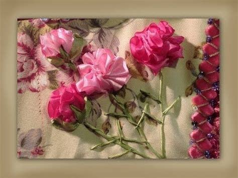 ribbon embroidery flowers  hand  images ribbon