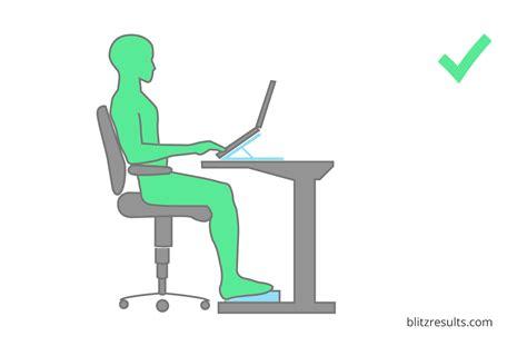 but ordinateur de bureau escritó ergonômico defina a altura correta de mesa e