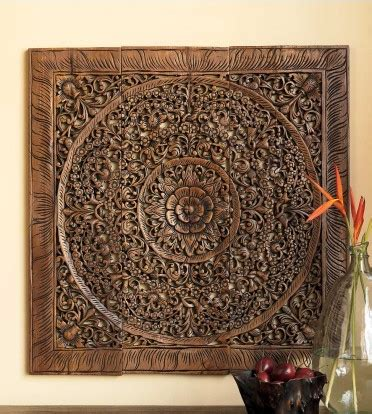 buy balinese antique wood carving wall art panel