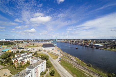 Ventspils city, Latvia. stock image. Image of city ...