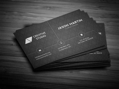 corporate dark business card business card templates