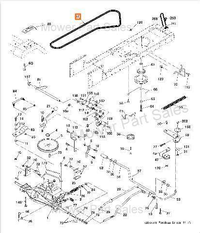 Craftsman Lt2000 Drive Belt by Craftsman Lt2000 Transmission Ground Drive Belt Part
