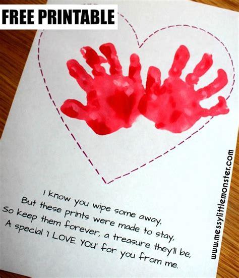 handprint poem  adorable handprint heart keepsake