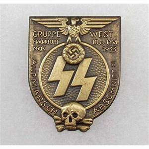 GERMAN NAZI SS 1933 GRUPPE FRANKFURT BADGE https://www ...