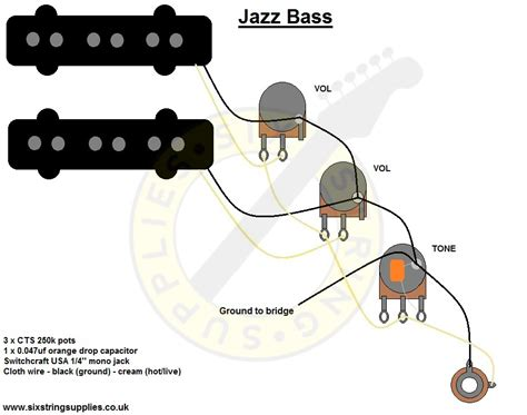 jazz bass wiring diagram kie bass jazz