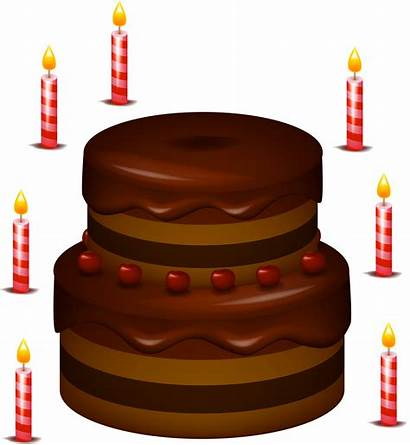 Cake Candles Chocolate Clipart Cakes Birthday Clip
