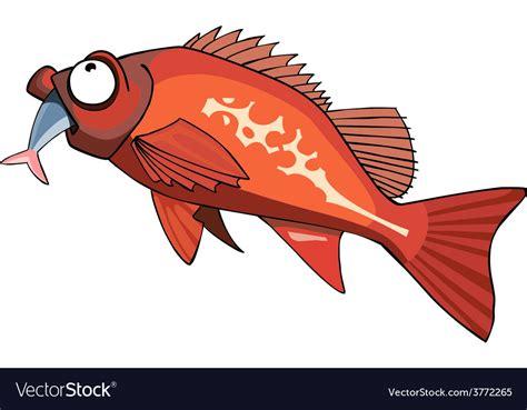 fish cartoon eating grouper vector composite cart