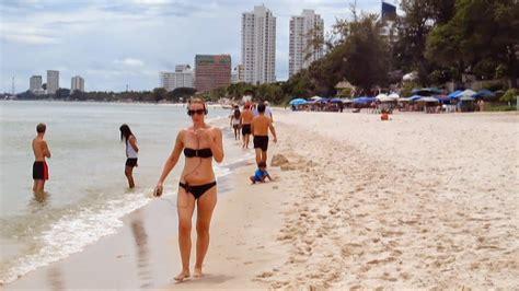hua hin beach thailand october  youtube