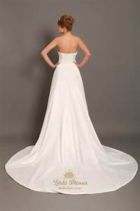 ivory taffeta strapless dropped waist wedding dresses with With taffeta wedding dress