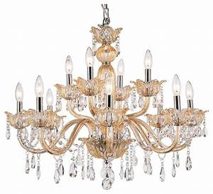 Ornate chandelier with champagne finish victorian