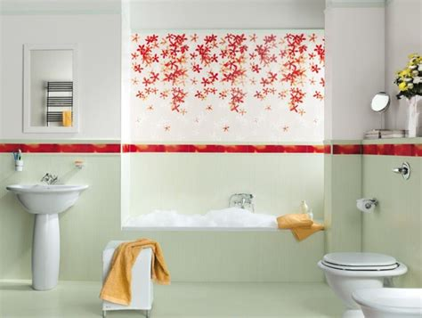 Bathroom Wall Flowers by 30 Cool Pictures And Ideas Of Digital Wall Tiles For Bathroom