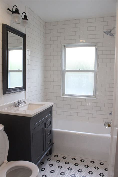 Tile Shower Ideas For Small Bathrooms by Farmhouse Style Bathroom Remodel White Subway Tile