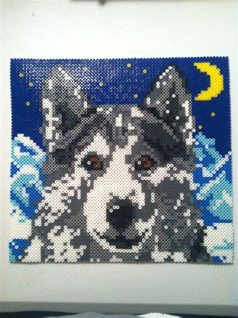 wolf perler beads  icrama hama bead projects perler