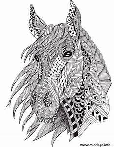 coloriage cheval adulte difficile plusieurs motifs dessin With amazing couleur pour un salon 13 dessins black crow tattoo