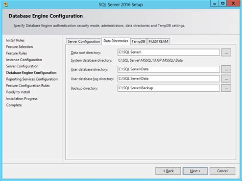install microsoft sql server  installing sql