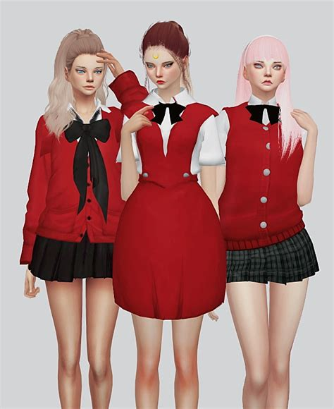 School Uniform Part1 at Kalewa-a u00bb Sims 4 Updates